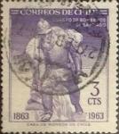 Sellos de America - Chile -  Intercambio 0,20  usd 3 cents. 1963