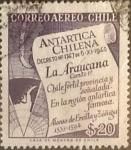 Stamps : America : Chile :  Intercambio hb1r 0,20  usd 20 pesos 1958