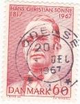 Stamps Denmark -  Hans Christian Sonne-escritor y poeta