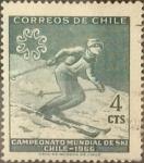 Sellos de America - Chile -  Intercambio 0,20  usd 4 cents. 1965