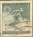 Stamps Chile -  Intercambio 0,20  usd 4 cents. 1965