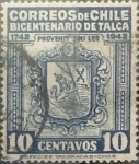 Sellos de America - Chile -  Intercambio 0,20  usd 10 cents. 1942