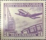 Sellos de America - Chile -  Intercambio 0,20  usd 3 miles. 1960