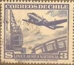 Sellos del Mundo : America : Chile : Intercambio 0,20  usd 3 peso 1950