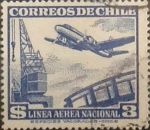 Sellos del Mundo : America : Chile : Intercambio 0,20  usd 3 peso 1950