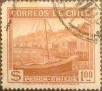 Stamps Chile -  Intercambio 0,20  usd 1 peso 1938