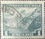 Stamps : America : Chile :  Intercambio 0,25 usd 1 escudo 1967