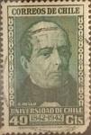 Sellos de America - Chile -  Intercambio 0,20 usd 40 cents. 1942