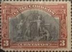 Sellos de America - Chile -  Intercambio 0,75 usd 3 cents. 1910