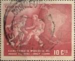 Stamps : America : Chile :  Intercambio 0,20 usd 10 cents. 1962