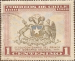Stamps Chile -  Intercambio 0,20 usd 1 cents. 1960