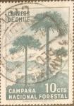 Stamps Chile -  Intercambio 0,20 usd 10 cents. 1967