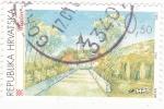 Stamps Croatia -  panorámica de Gracac