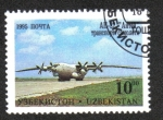 Stamps Asia - Uzbekistan -  Aeronaves de de Tashkent Aircraft Factory