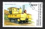 Sellos del Mundo : Africa : Guinea : Old Locomotives