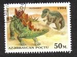 Stamps Azerbaijan -  Animales Pre-Históricos