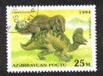 Sellos del Mundo : Asia : Azerbaiyán : Animales Prehistoricos