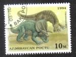 Sellos de Asia - Azerbaiyán -  Animales Prehistoricos