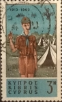 Stamps : Asia : Cyprus :  Intercambio 0,20 usd 3 miles. 1963