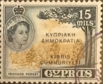 Stamps : Asia : Cyprus :  Intercambio crxf2 0,20 usd 15 miles. 1960