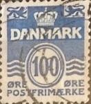 Sellos de Europa - Dinamarca -  Intercambio 0,35 usd 100 ore 1983