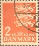 Stamps Denmark -  Intercambio 0,20 usd 2 krone 1947