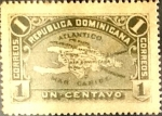 Sellos de Europa - Rep Dominicana -  Intercambio 0,65 usd 1 cent. 1900