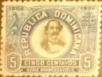 Sellos del Mundo : America : Rep_Dominicana : Intercambio 0,25 usd 5 cents. 1902