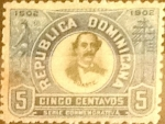 Sellos de America - Rep Dominicana -  Intercambio 0,25 usd 5 cents. 1902