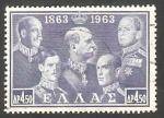 Stamps Greece -  783 - George I, Constantino I, Alexander I, George II y Paul I