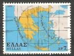 Sellos de Europa - Grecia -  1322 - Mapa de Grecia