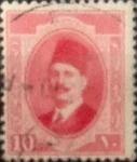 Stamps : Africa : Egypt :  10 miles. 1923