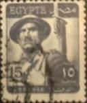 Sellos de Africa - Egipto -  Intercambio 0,20 usd 15 miles. 1953