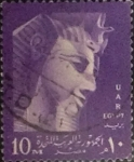 Stamps : Africa : Egypt :  Intercambio agm 0,30 usd 10 miles. 1958