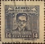 Stamps : America : El_Salvador :  14 cents. 1947