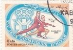 Sellos del Mundo : Asia : Afganistán : patinaje artístico- Sarajevo 1984
