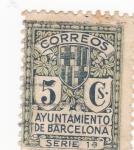 Sellos del Mundo : Europa : España : ayuntamiento de Barcelona (19)