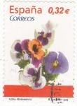 Sellos de Europa - España -  Flora- pensamiento (19)