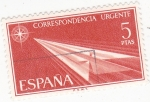 Sellos de Europa - España -  correspondencia urgente (19)