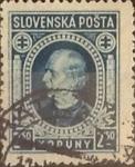 Stamps : Europe : Slovakia :  Intercambio ma4xs 0,30 usd 2,50 k. 1939