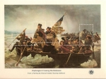 Stamps : America : United_States :  Bicentennial Souvenir sheets / washington crossing delaware