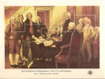 Stamps : America : United_States :  Bicentennial Souvenir sheets / the declaration of independence, 4 july 1776 at philadelphia