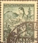 Stamps : Europe : Slovakia :  Intercambio 0,50 usd  2 k. 1939