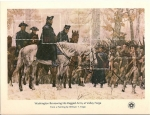Stamps United States -  Bicentennial souvenir Sheets / washington reviewing his ragged army at valley forge