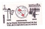 Stamps : Europe : Spain :  centenario de la UIT (19)