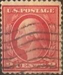 Sellos de America - Estados Unidos -  Intercambio 0,25 usd 2 cents. 1917