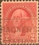 Sellos de America - Estados Unidos -  Intercambio 0,20 usd 2 cents. 1932