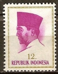 Sellos del Mundo : Asia : Indonesia : Presidente Sukarno.