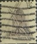 Sellos de America - Estados Unidos -  Intercambio 0,20 usd 15 cents. 1980