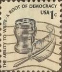 Sellos de America - Estados Unidos -  Intercambio 0,20 usd 1 cents. 1977